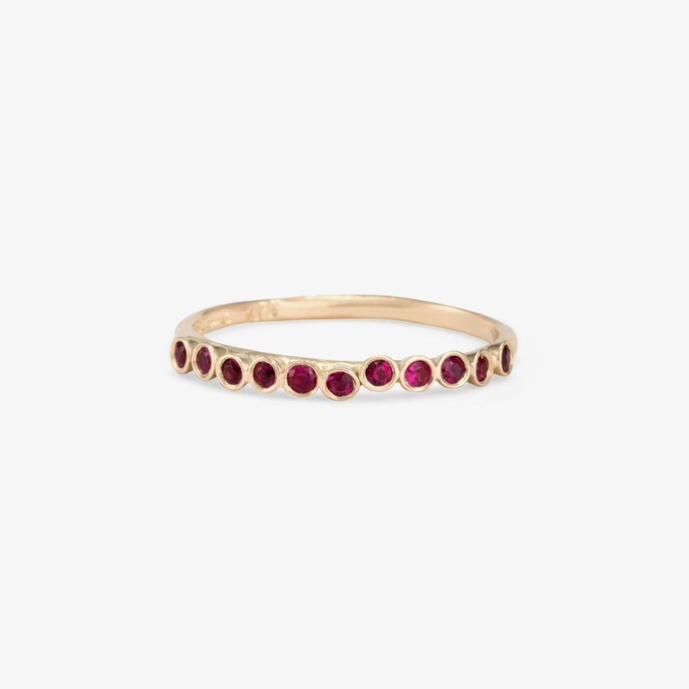 Ruby Raised Band WG | Magpie Jewellery