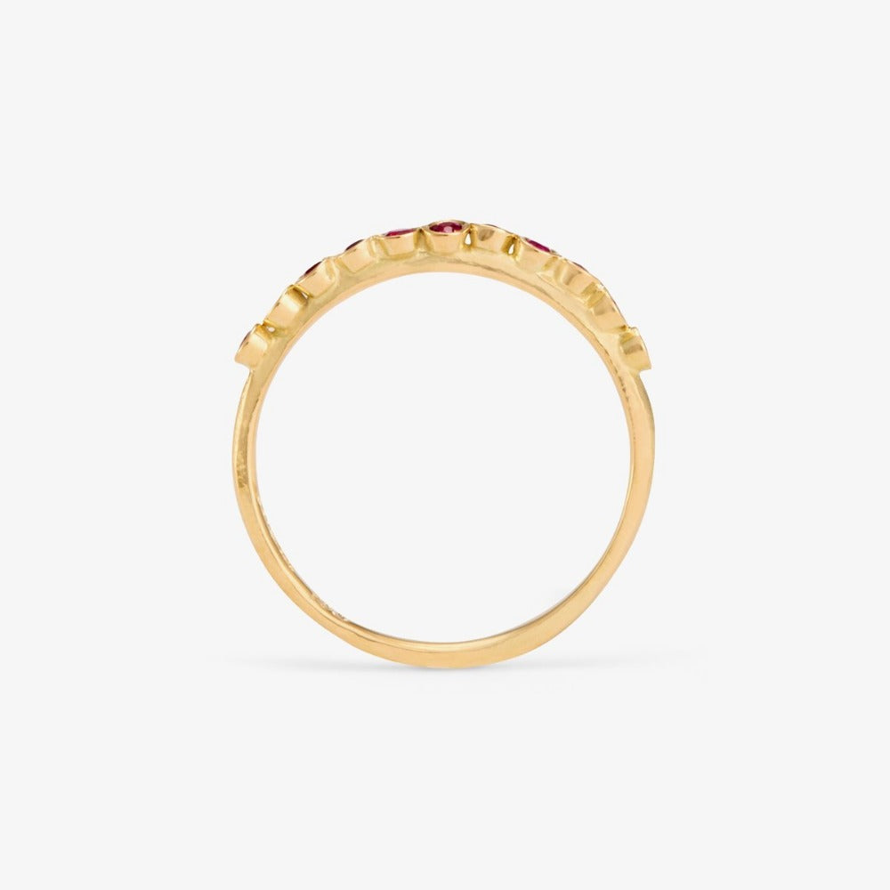 Ruby Raised Band YG | Magpie Jewellery