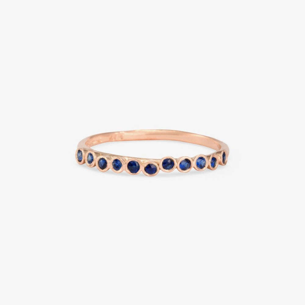 Sapphire Raised Band RG | Magpie Jewellery