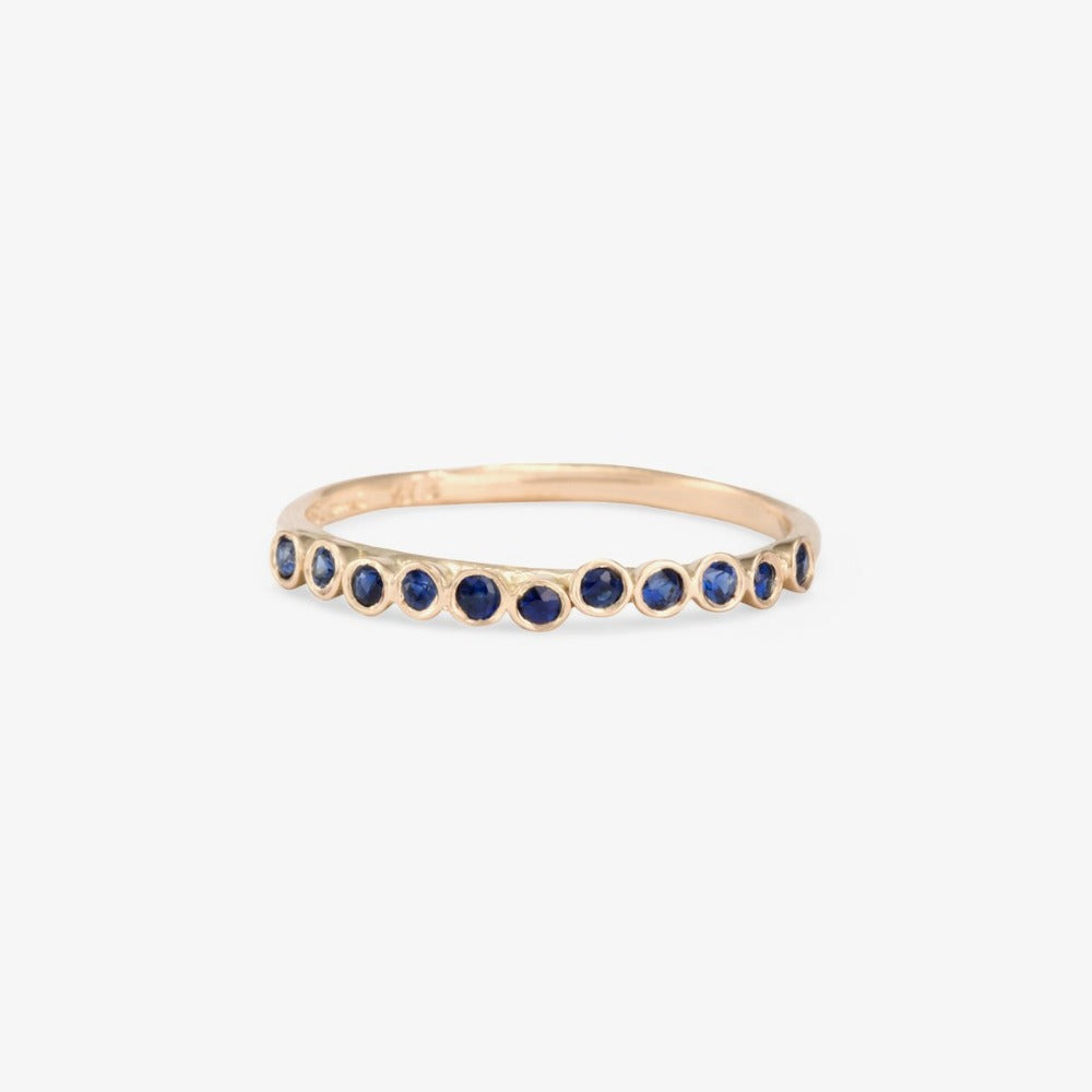 Sapphire Raised Band WG | Magpie Jewellery