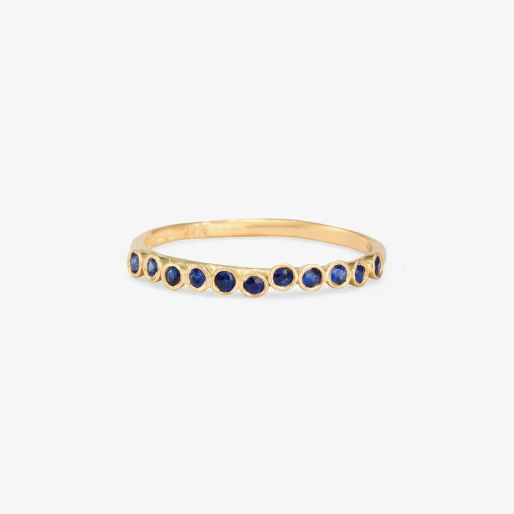 Sapphire Raised Band YG | Magpie Jewellery