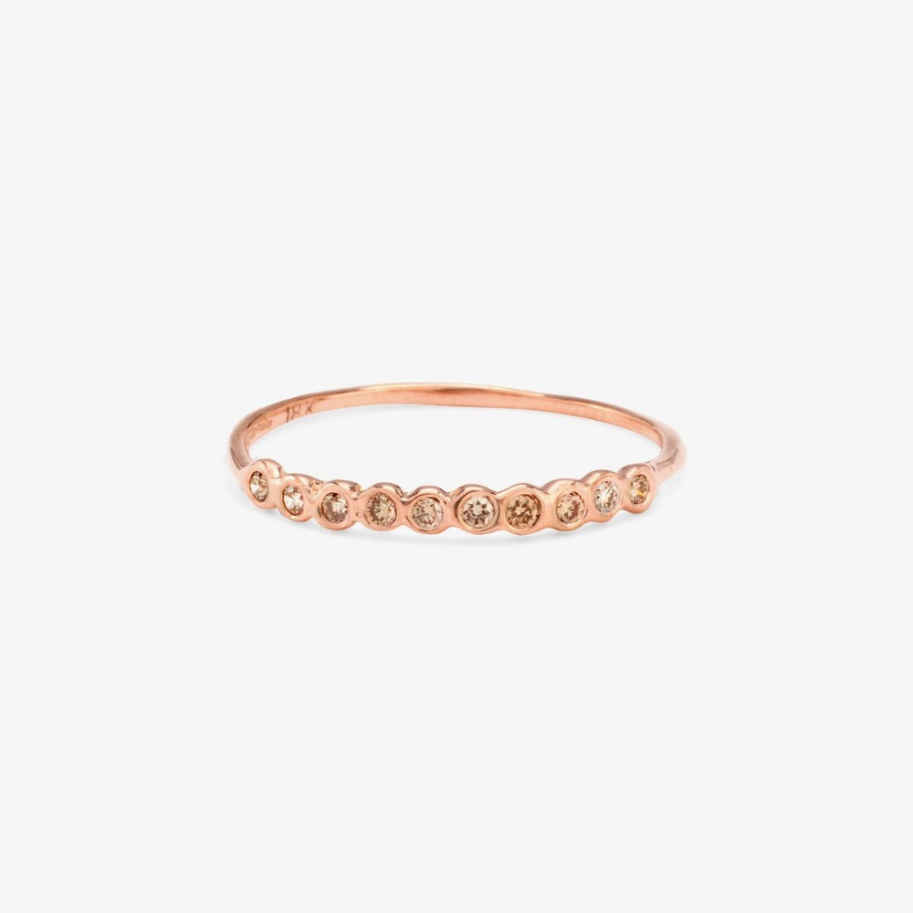 Small Brown Diamond Sweet Ten Band RG | Magpie Jewellery