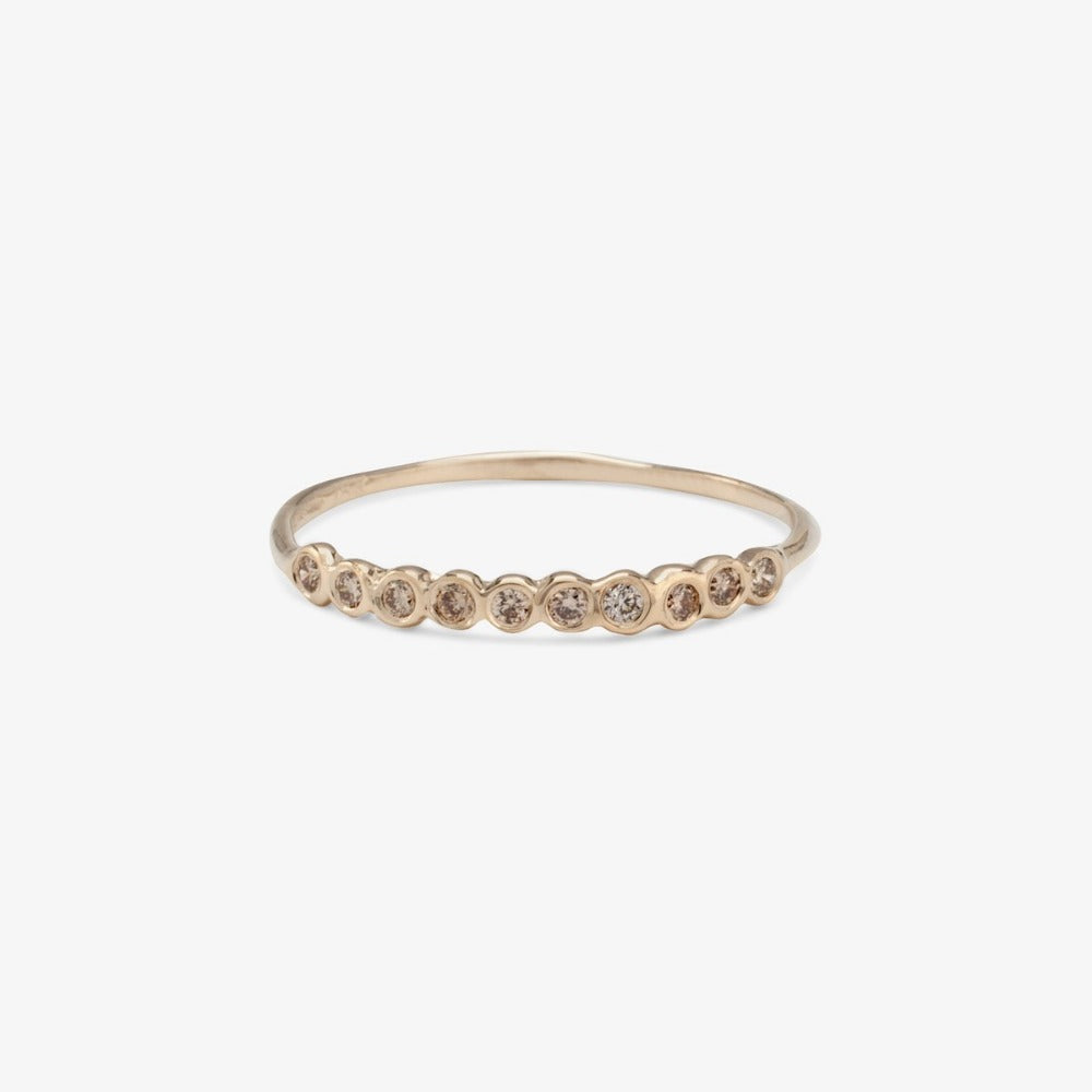Small Brown Diamond Sweet Ten Band WG | Magpie Jewellery