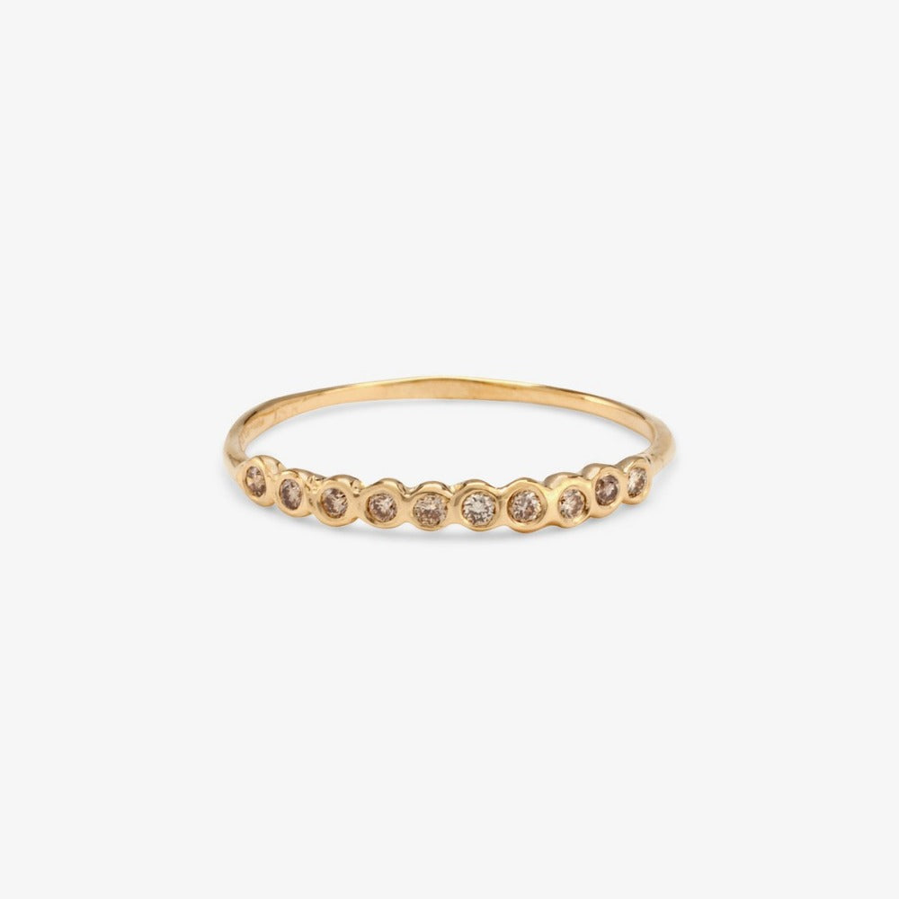 Small Brown Diamond Sweet Ten Band YG | Magpie Jewellery