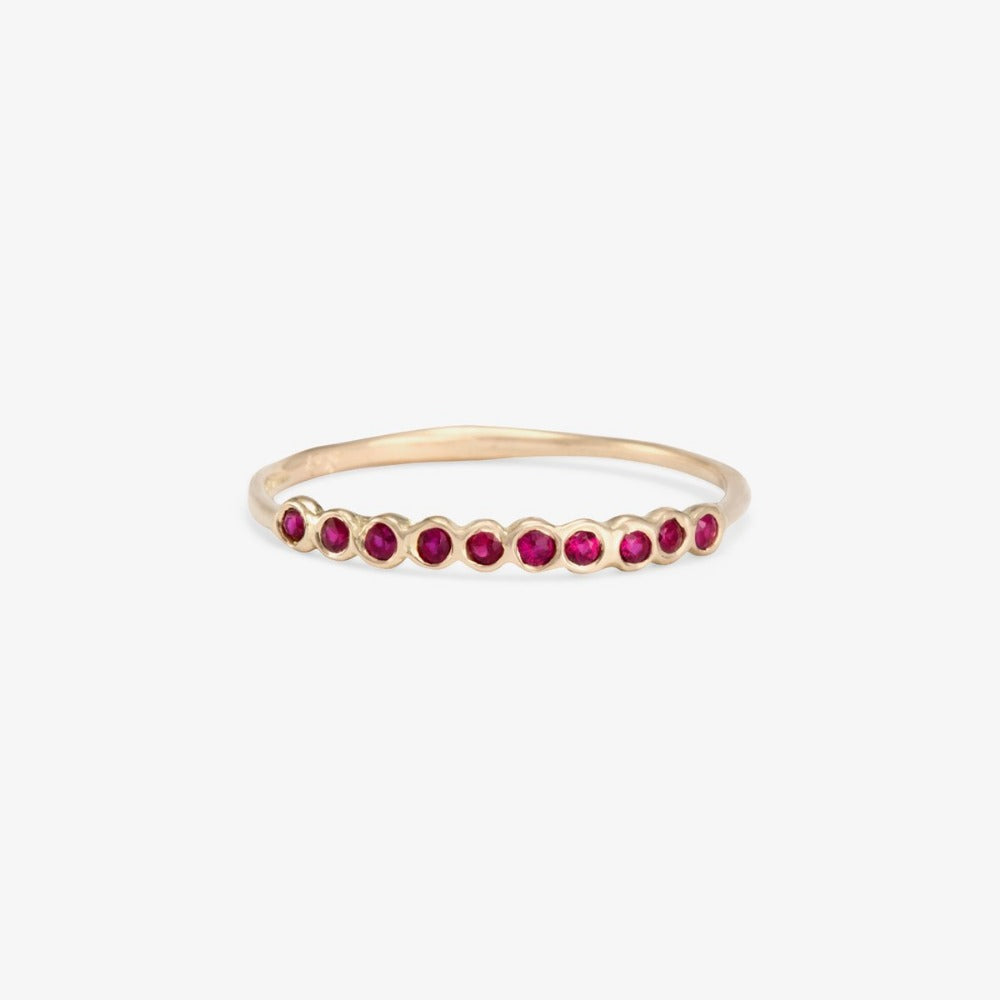 Small Ruby Sweet Ten Band WG | Magpie Jewellery