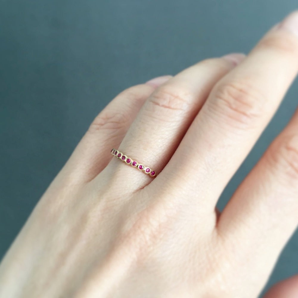 Small Ruby Sweet Ten Band YG | Magpie Jewellery