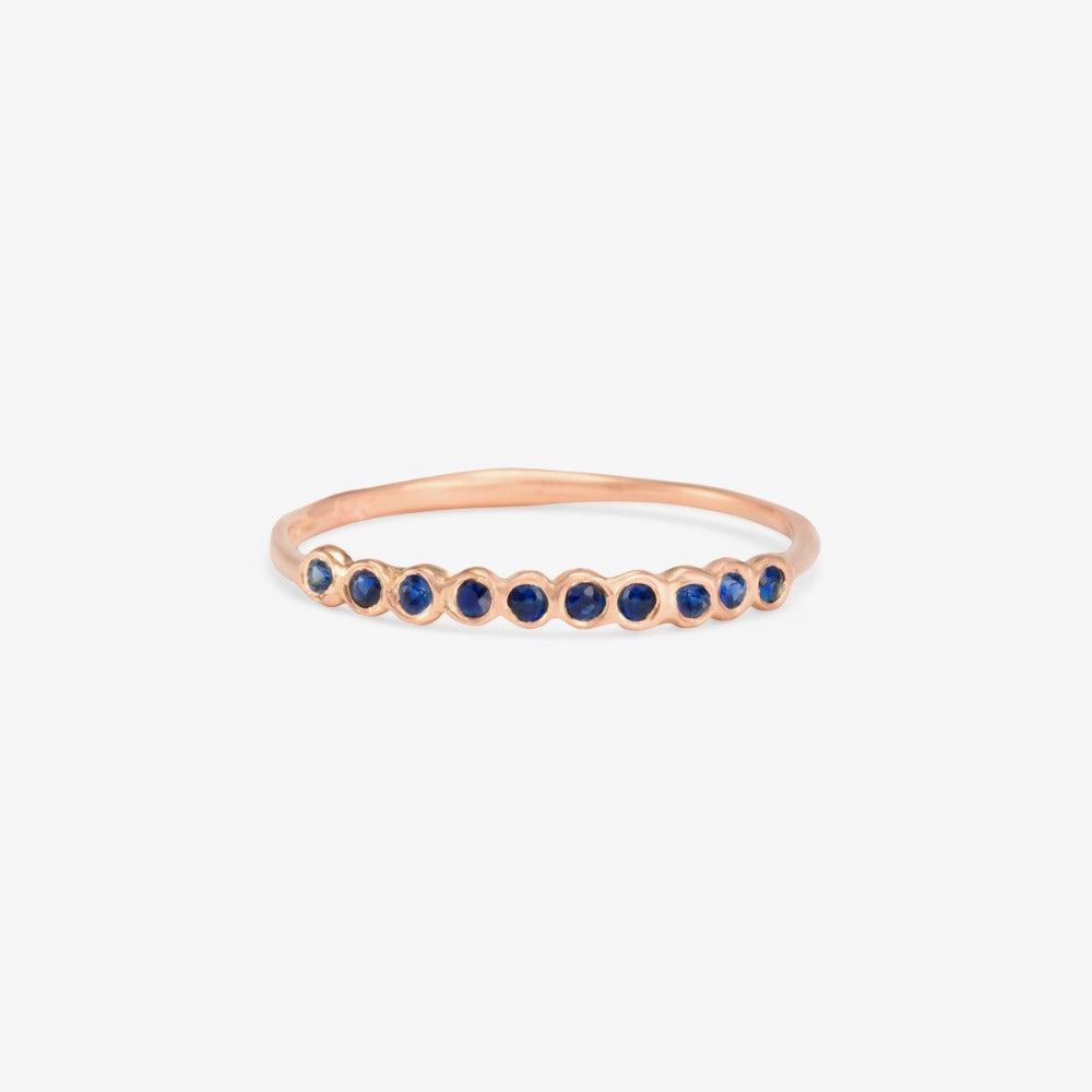 Small Sapphire Sweet Ten Band RG | Magpie Jewellery