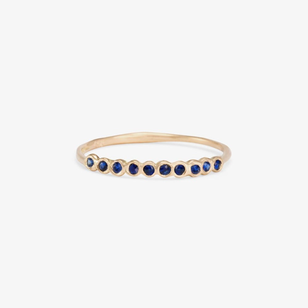 Small Sapphire Sweet Ten Band WG | Magpie Jewellery