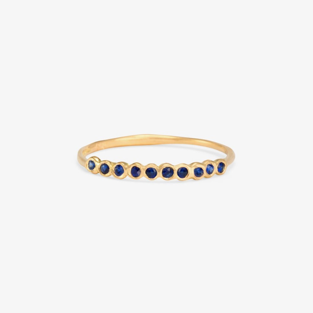 Small Sapphire Sweet Ten Band YG | Magpie Jewellery