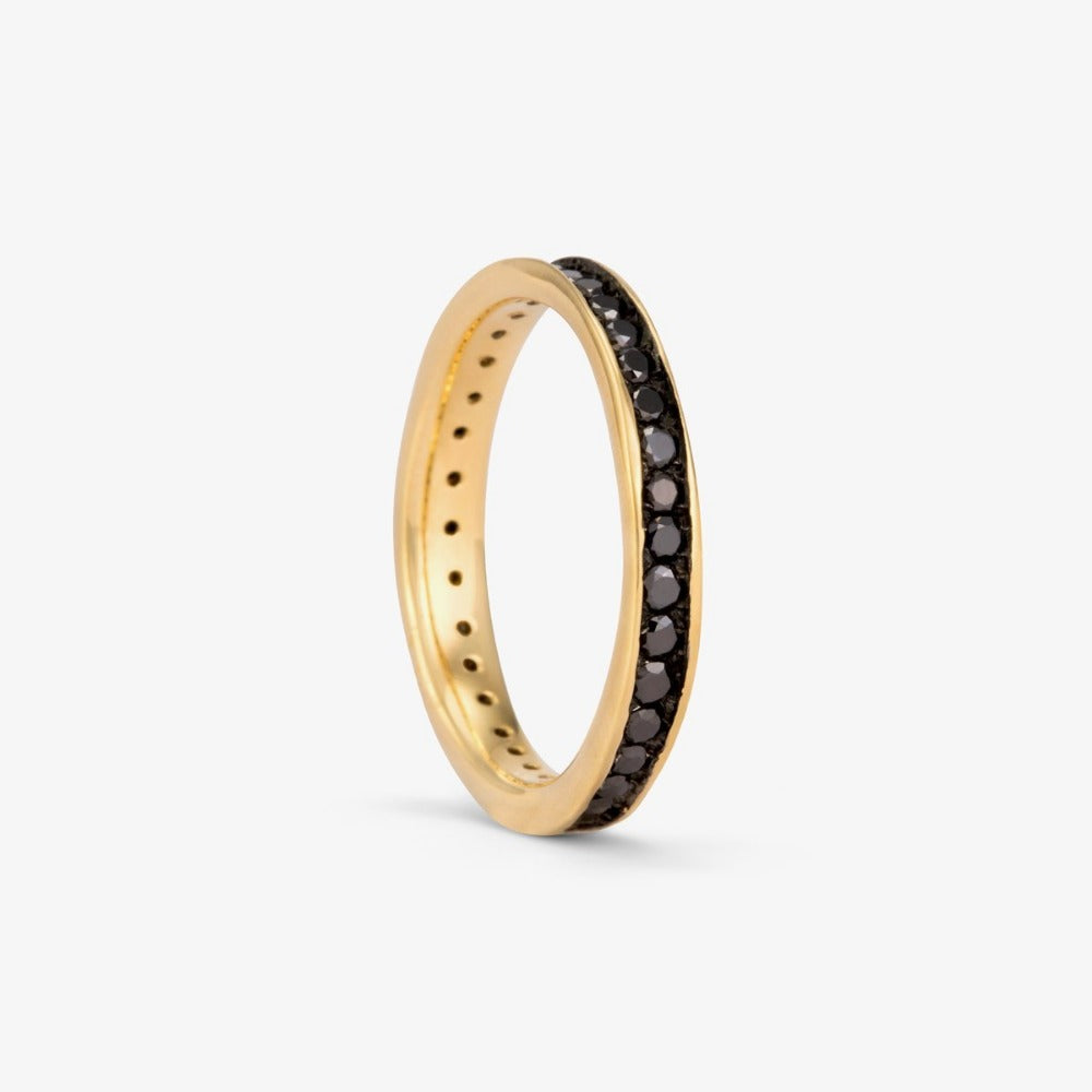 Black Diamond Absolute Band YG | Magpie Jewellery