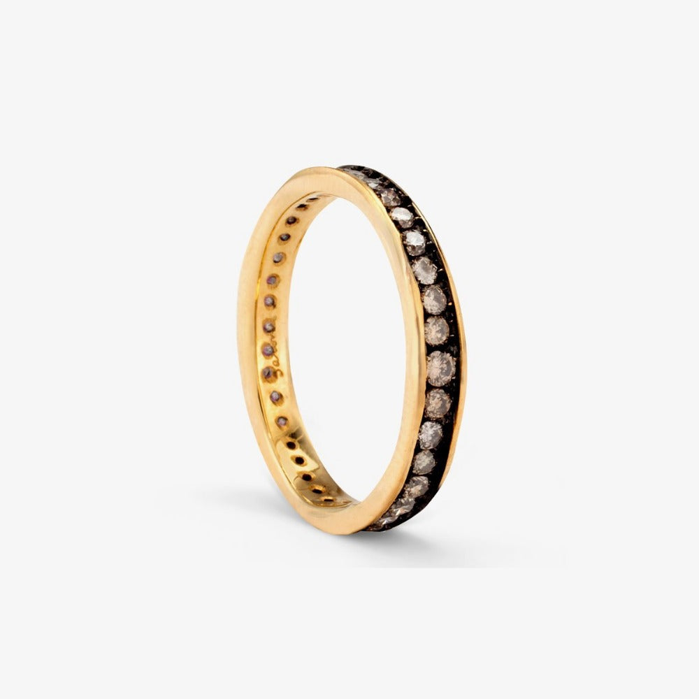 Brown Diamond Absolute Band YG | Magpie Jewellery