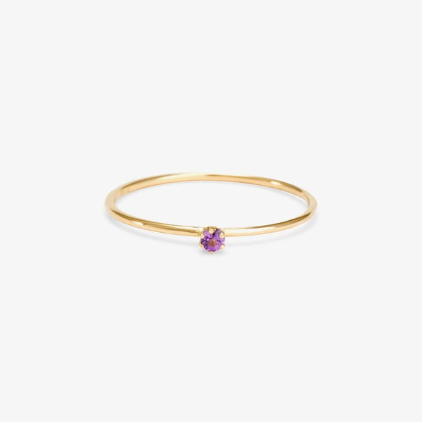 Baby Amethyst Birthstone Ring (February) | Magpie Jewellery