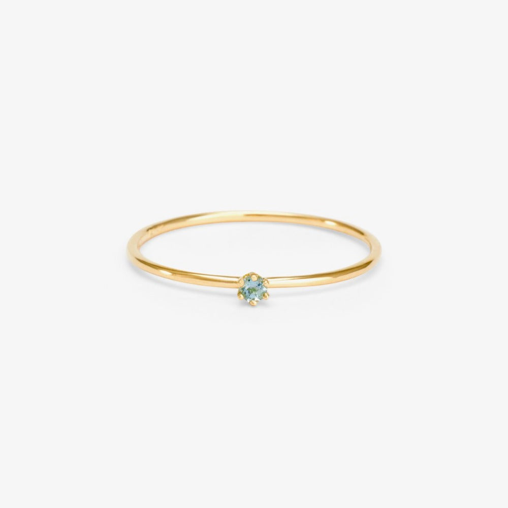 Baby Aquamarine Birthstone Ring (March) | Magpie Jewellery