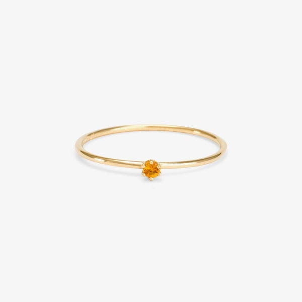 Baby Citrine Birthstone Ring (November) | Magpie Jewellery