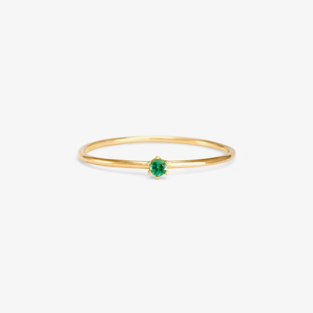 Baby Emerald Birthstone Ring (May) | Magpie Jewellery