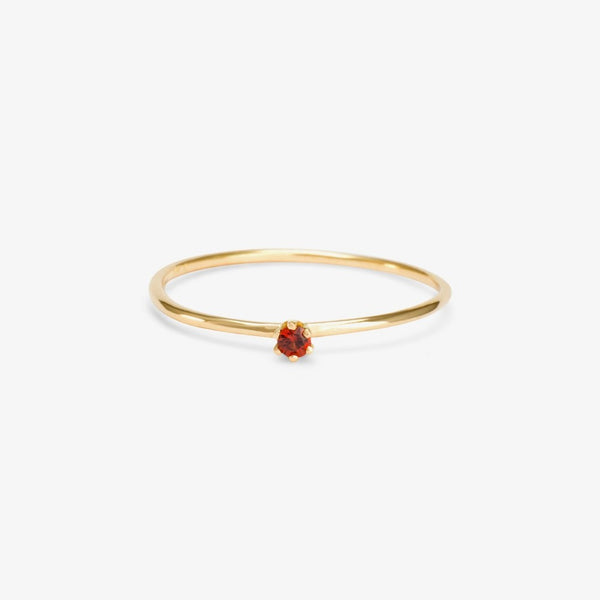 Baby Garnet Birthstone Ring (January) | Magpie Jewellery