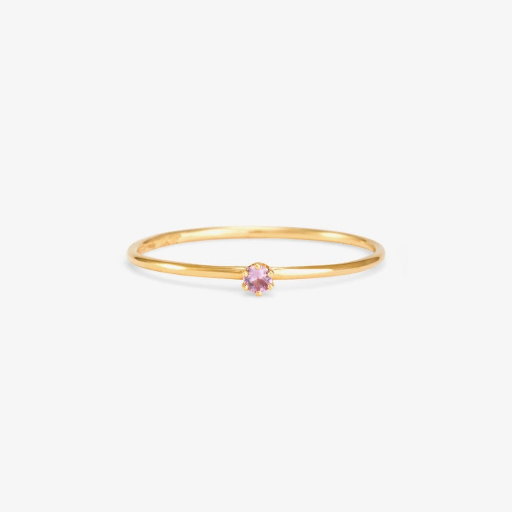 Baby Sapphire in Pink Birthstone Ring (September) | Magpie Jewellery