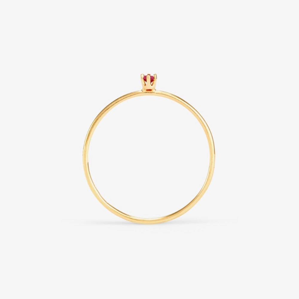 Baby Ruby Birthstone Ring (July) | Magpie Jewellery