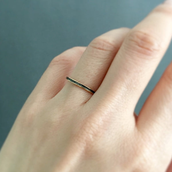 Black Rhodium and Gold Band | Magpie Jewellery