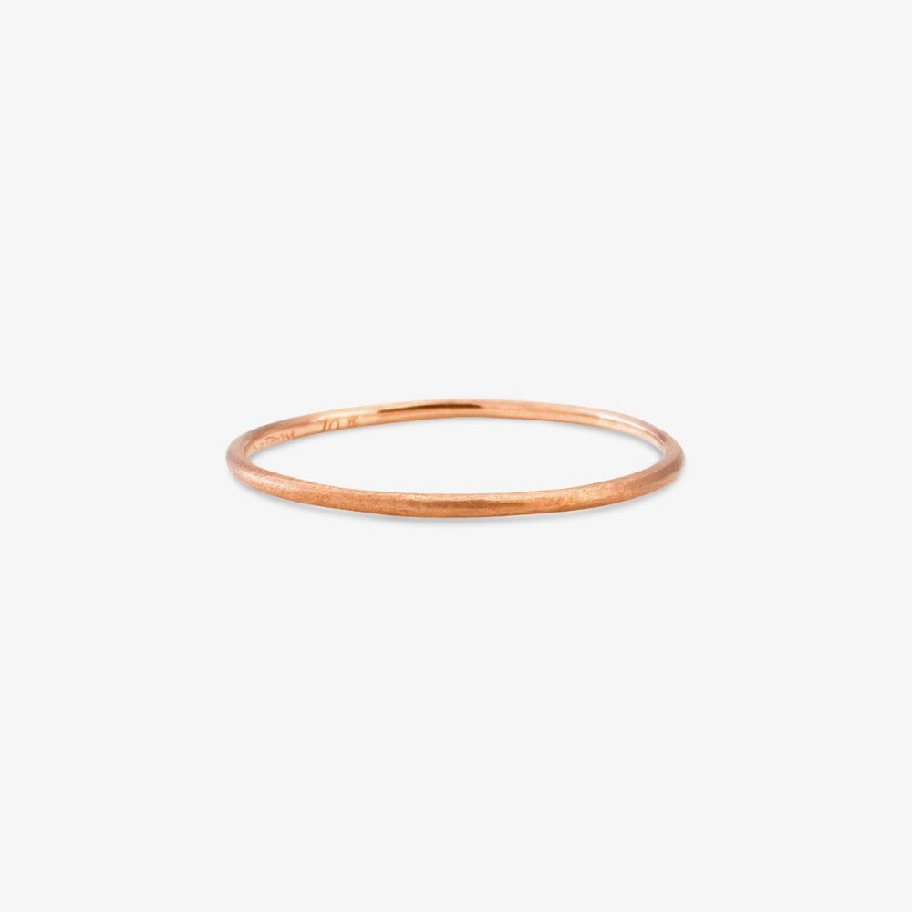 0.9mm Rose Gold Rough Textured Band | Magpie Jewellery