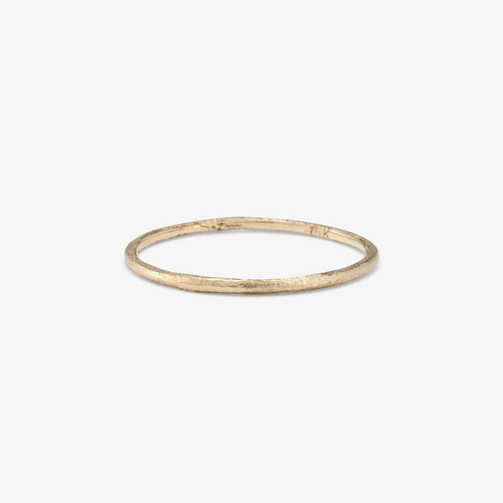 0.9mm White Gold Rough Textured Band | Magpie Jewellery