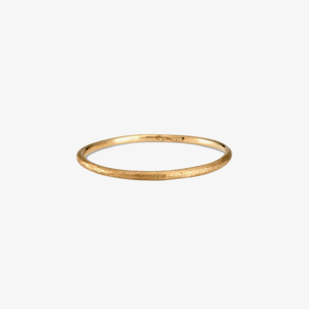 0.9mm Yellow Gold Rough Textured Band | Magpie Jewellery