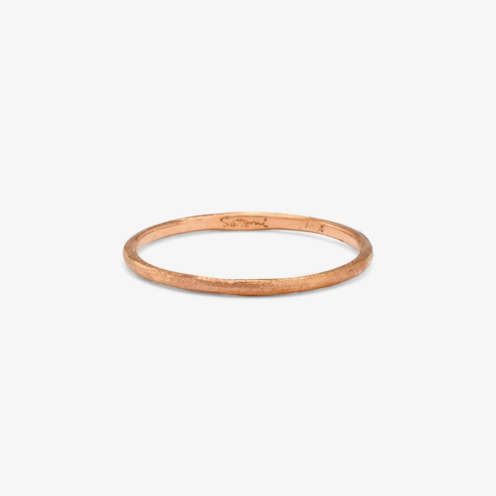 1.3mm Rose Gold Rough Textured Band | Magpie Jewellery