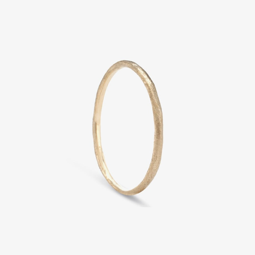 1.3mm White Gold Rough Textured Band | Magpie Jewellery