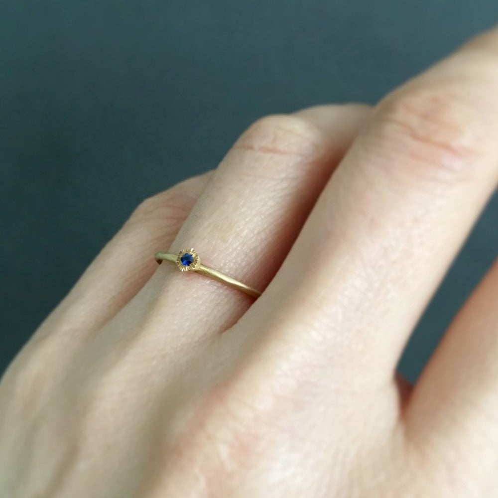 Baby Sapphire Diamond Hexagon Ring | Magpie Jewellery