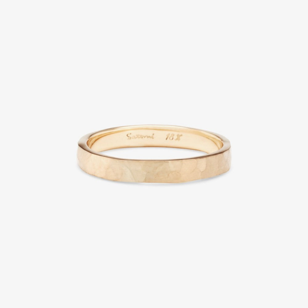 2.8mm Hammered Rose Gold Band | Magpie Jewellery