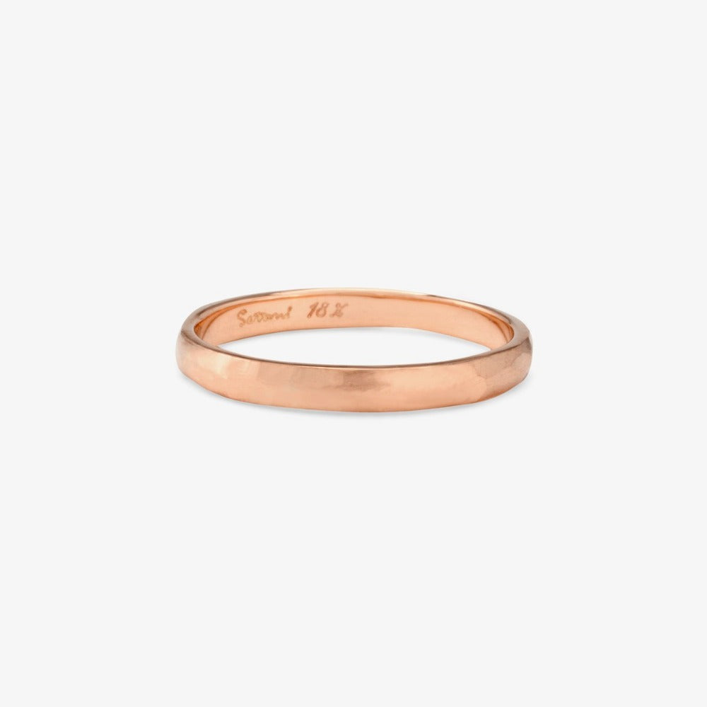 2.3mm Faceted Rose Gold Band | Magpie Jewellery