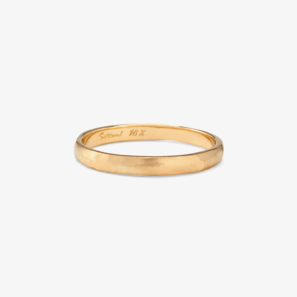 2.3mm Faceted Yellow Gold Band | Magpie Jewellery