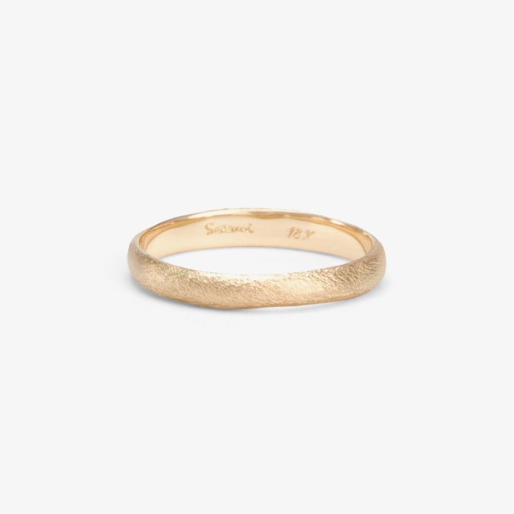 2.8mm Rough Rounded White Gold Band | Magpie Jewellery