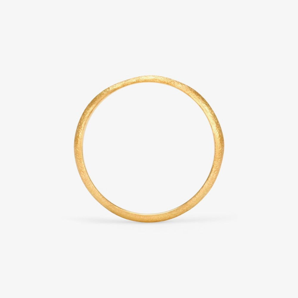 2.8mm Rough Rounded Yellow Gold Band | Magpie Jewellery