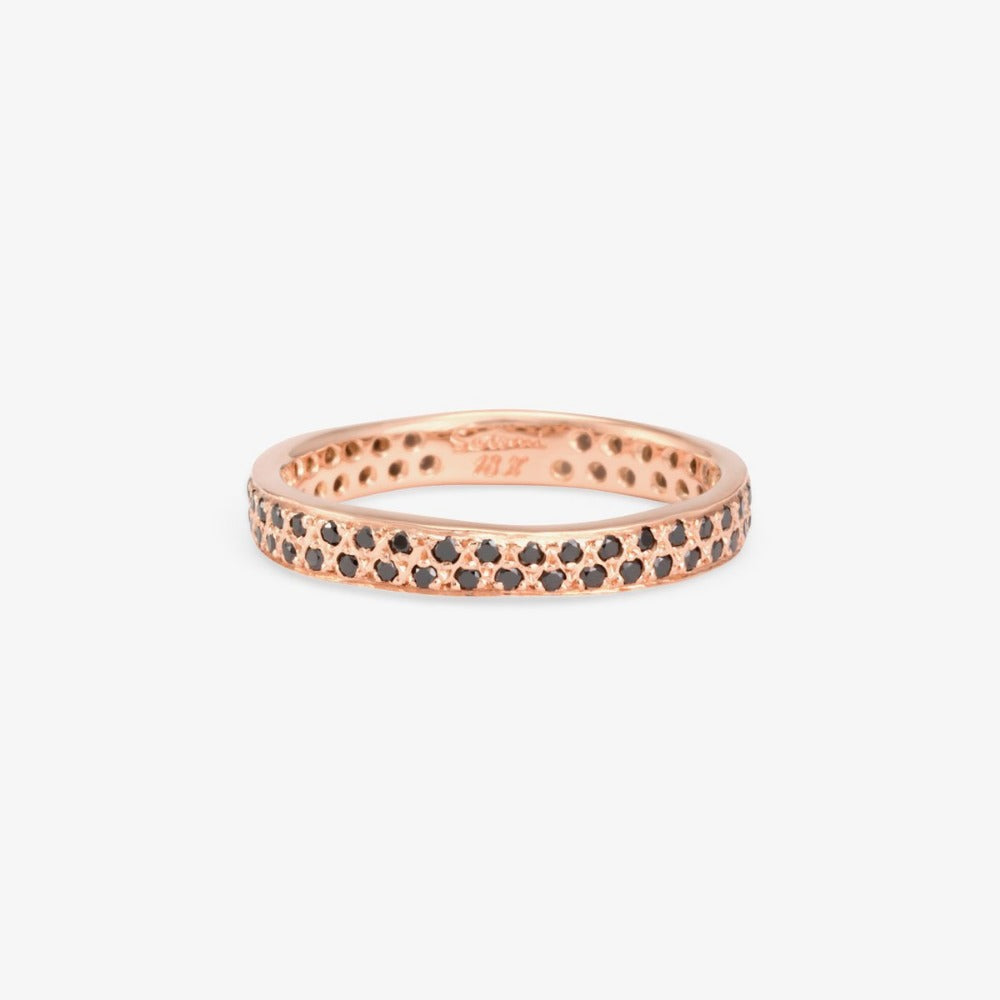 Black Diamond Double Eternity Band RG | Magpie Jewellery