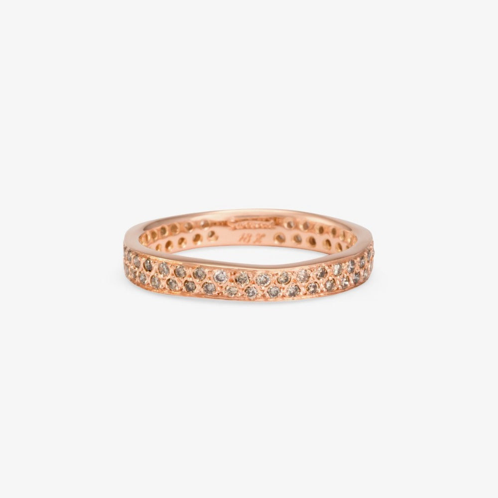 Brown Diamond Double Eternity Band RG | Magpie Jewellery
