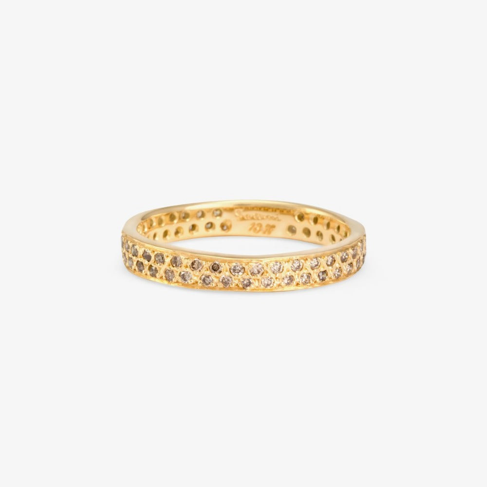 Brown Diamond Double Eternity Band YG | Magpie Jewellery