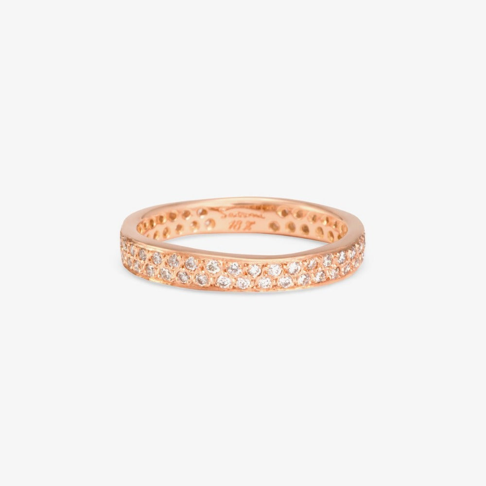 White Diamond Double Eternity Band RG | Magpie Jewellery