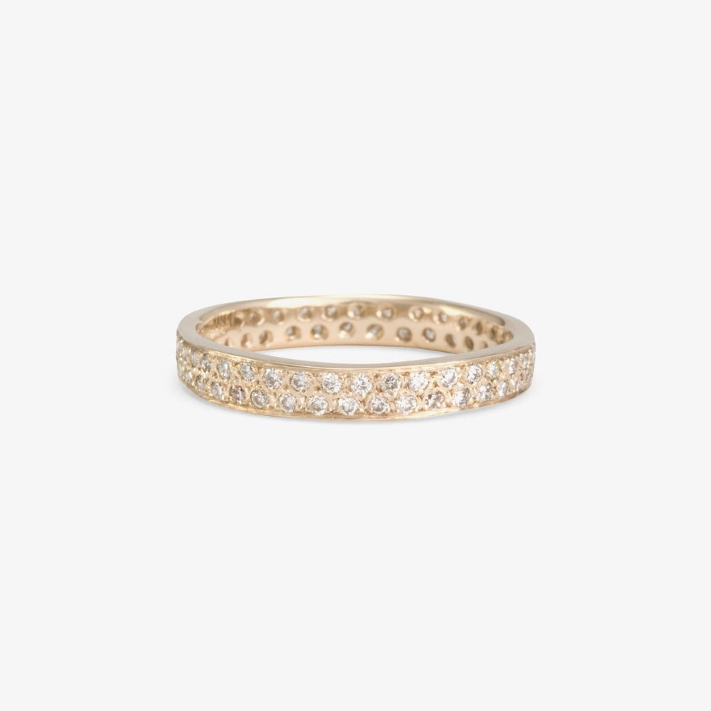White Diamond Double Eternity Band WG | Magpie Jewellery