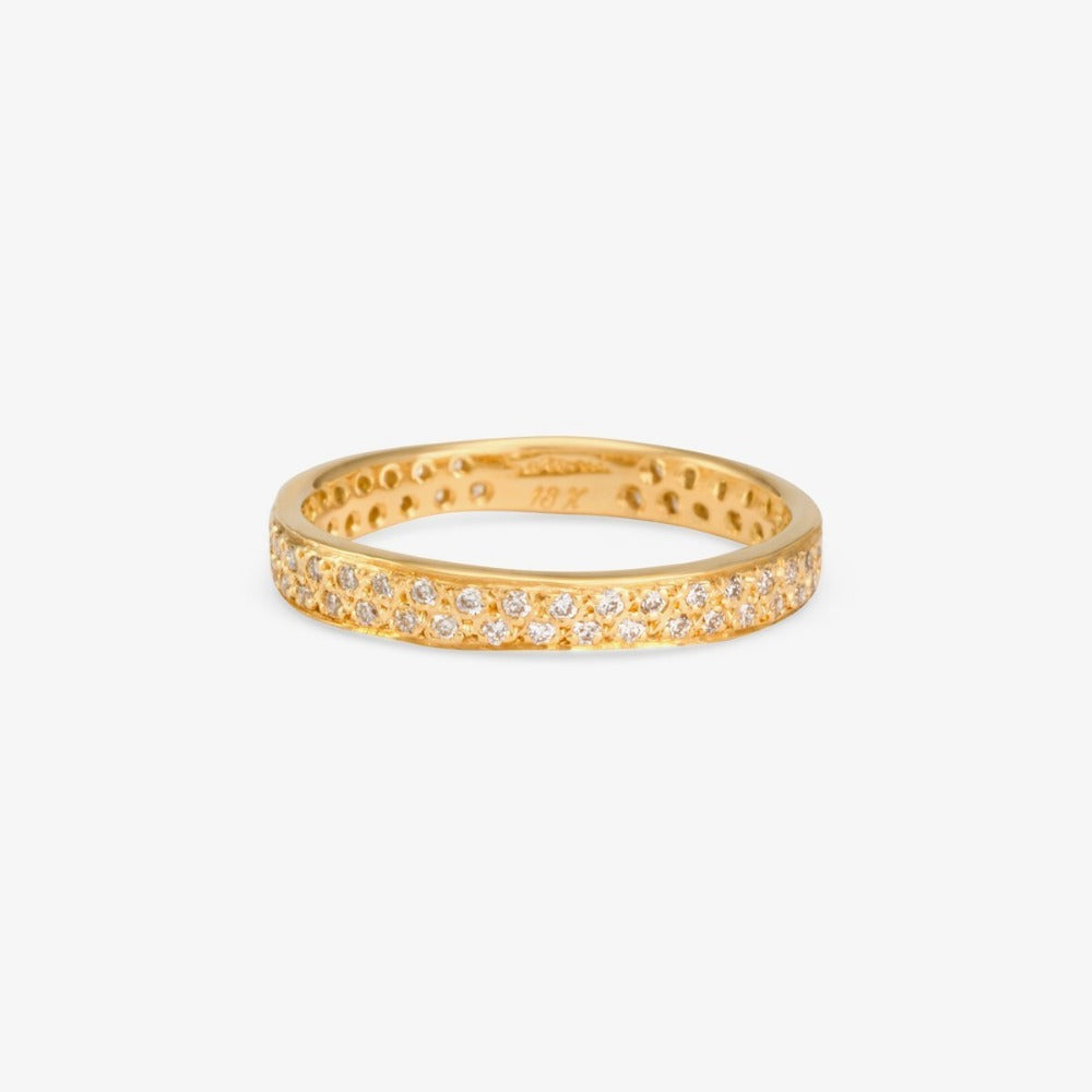 White Diamond Double Eternity Band YG | Magpie Jewellery