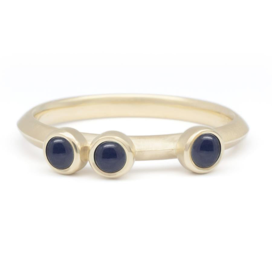 Scattered Gemstone Stacker Ring - Blue Sapphire