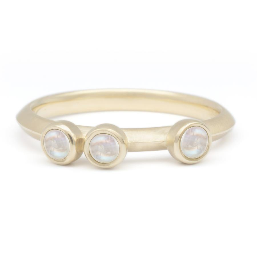 Scattered Gemstone Stacker Ring - Moonstone