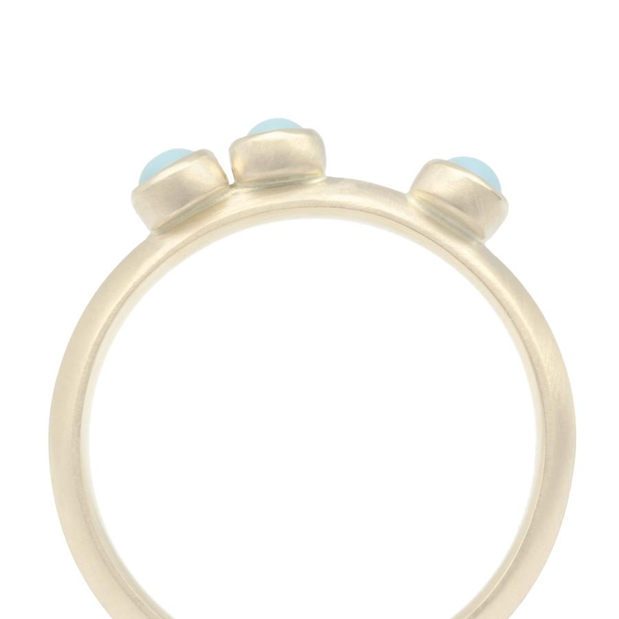 Scattered Gemstone Stacker Ring - Turquoise
