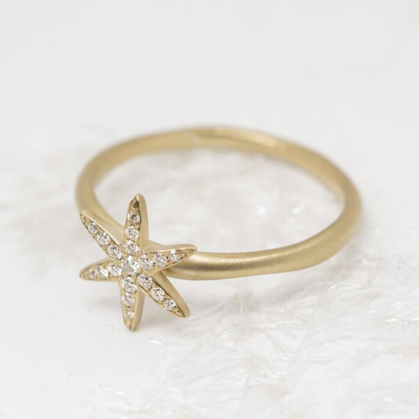 Diamond Pave Star Ring