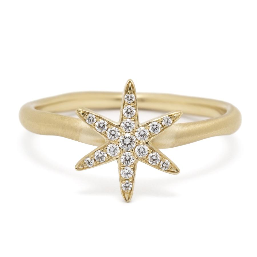 Diamond Pave Star Ring YG | Magpie Jewellery