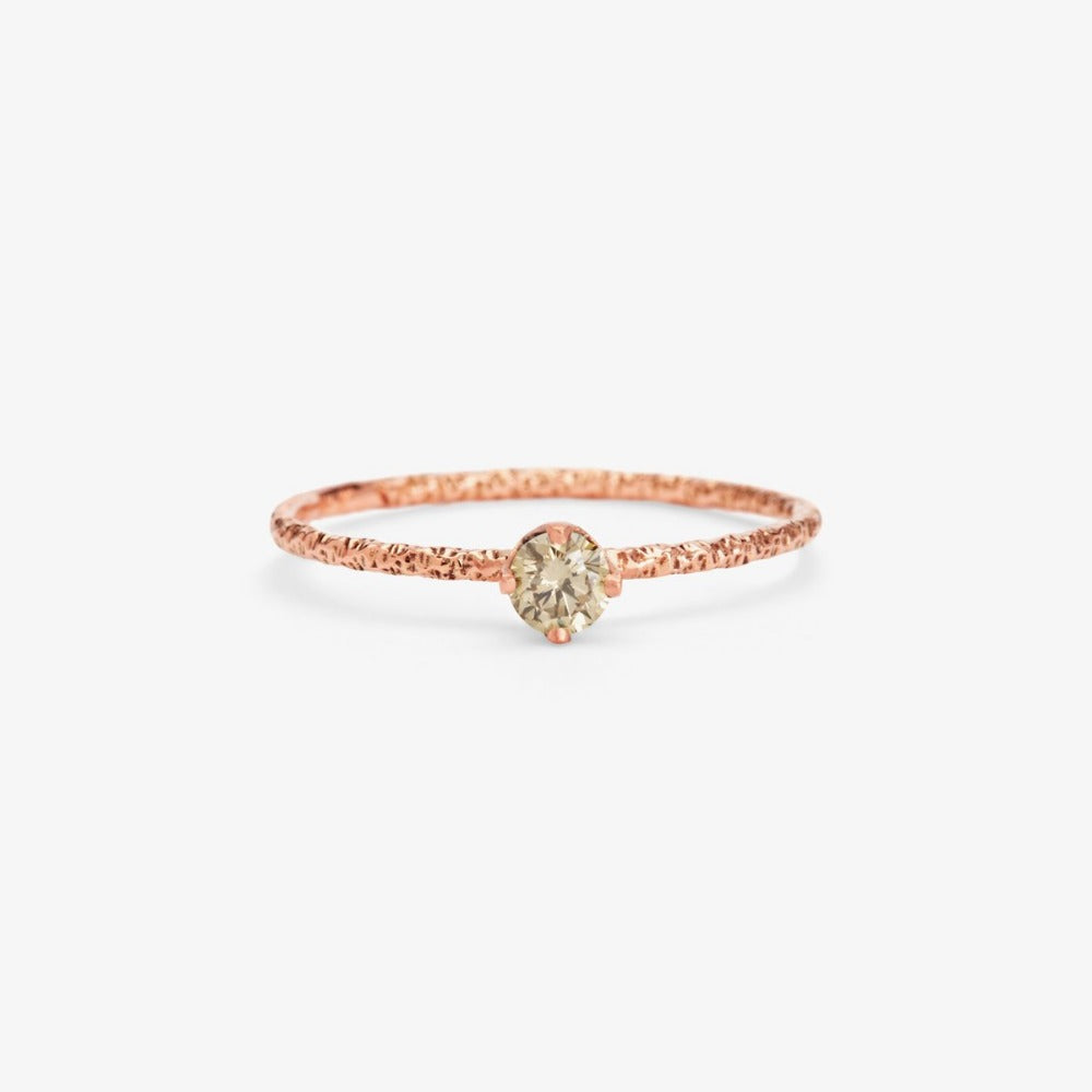 0.16 carat Brown Diamond Homespun Solitaire Ring RG | Magpie Jewellery