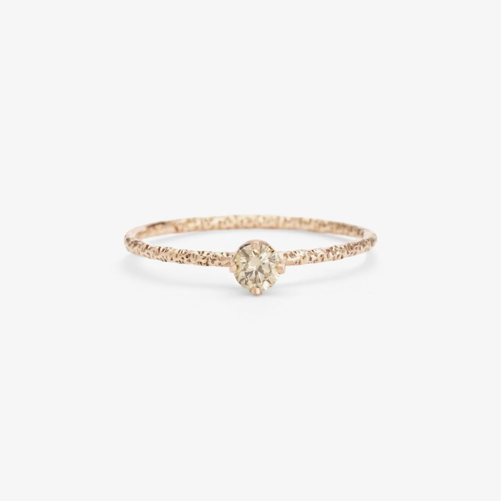 0.16 carat Brown Diamond Homespun Solitaire Ring WG | Magpie Jewellery