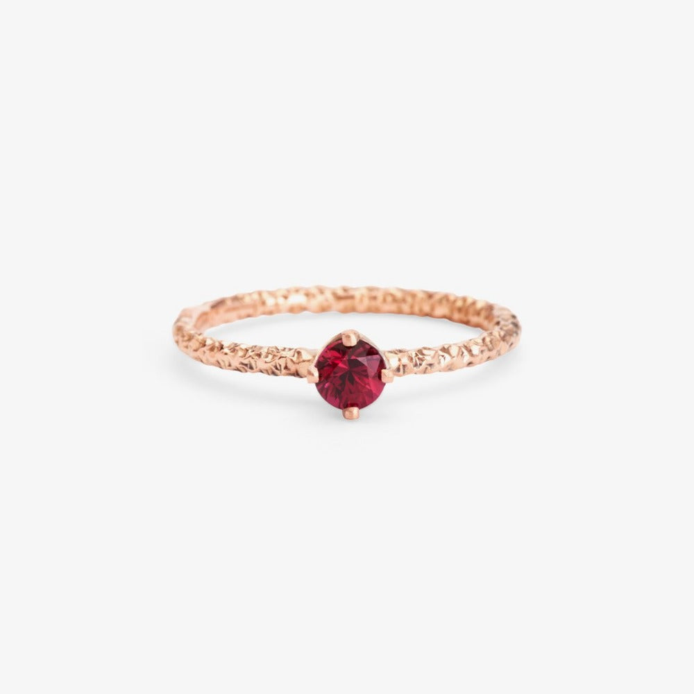 0.27 carat Ruby Homespun Solitaire Ring RG | Magpie Jewellery