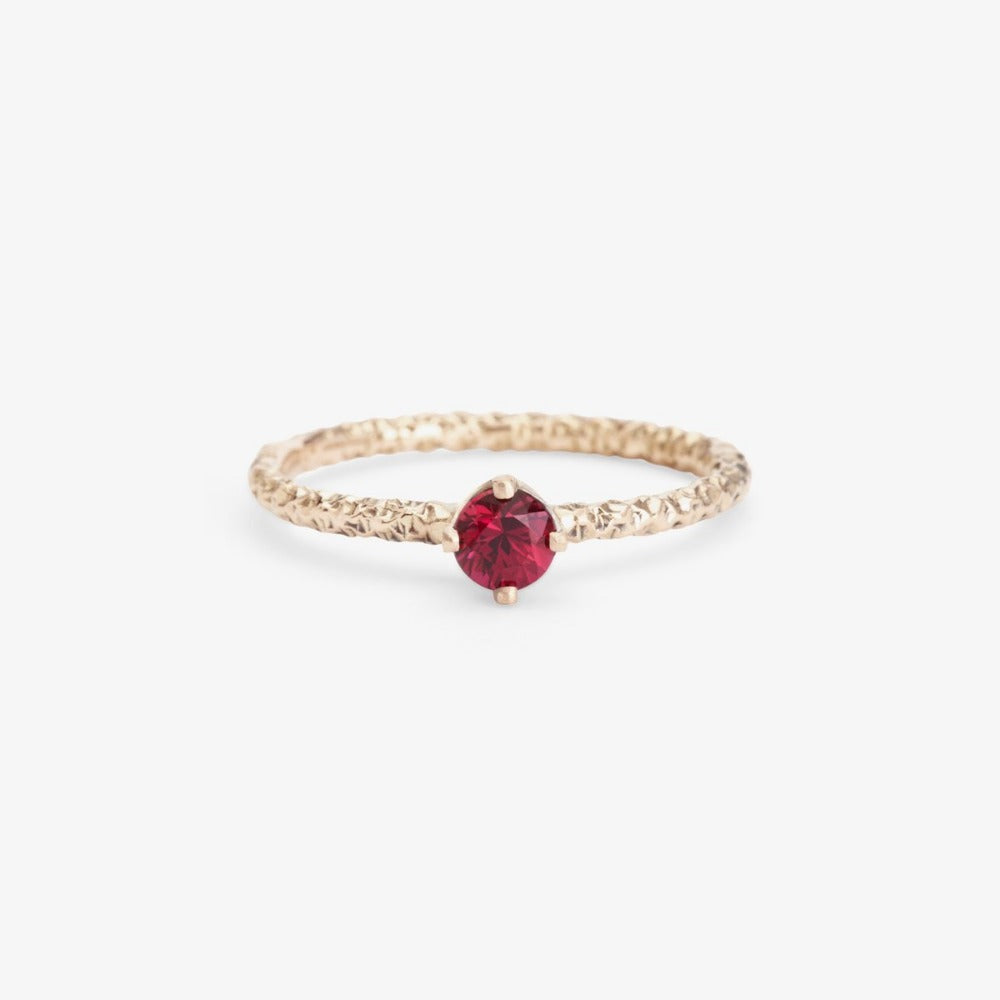 0.27 carat Ruby Homespun Solitaire Ring WG | Magpie Jewellery