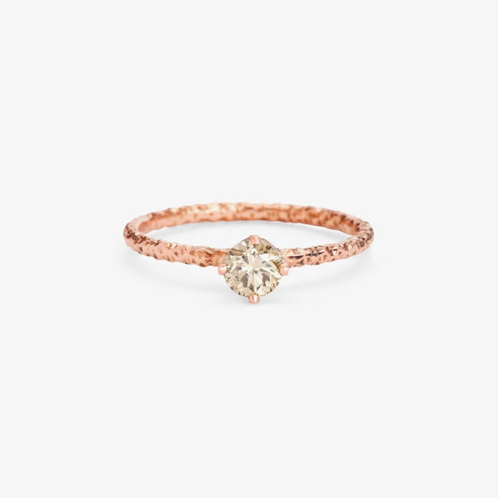 0.33 carat Diamond Brown Homespun Solitaire Ring RG | Magpie Jewellery
